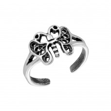 Wholesale Sterling Silver 925 Butterfly Adjustable Toe Ring - TR246-A