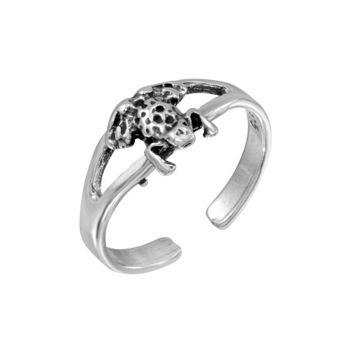 Wholesale Sterling Silver 925 Frog Adjustable Toe Ring - TR247-A