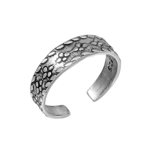 Wholesale Sterling Silver 925 Flower Link Design Toe Ring - TR250-A