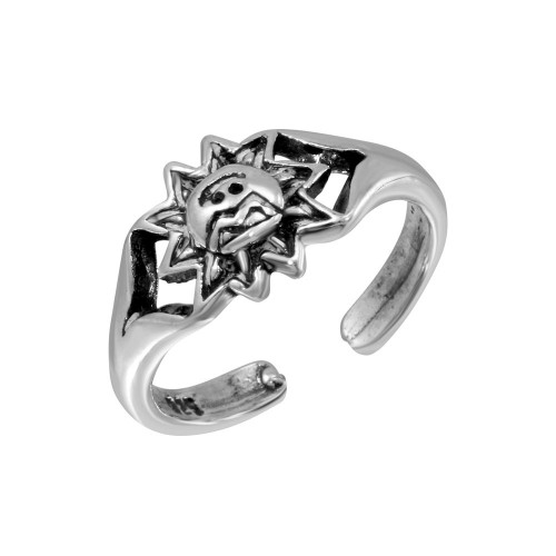 Wholesale Sterling Silver 925 Sun Adjustable Toe Ring - TR254-A