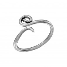 Sterling Silver Curl Adjustable Toe Ring - TR260