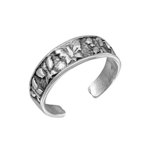 Wholesale Sterling Silver 925 Multi Butterfly Adjustable Toe Ring - TR267-A