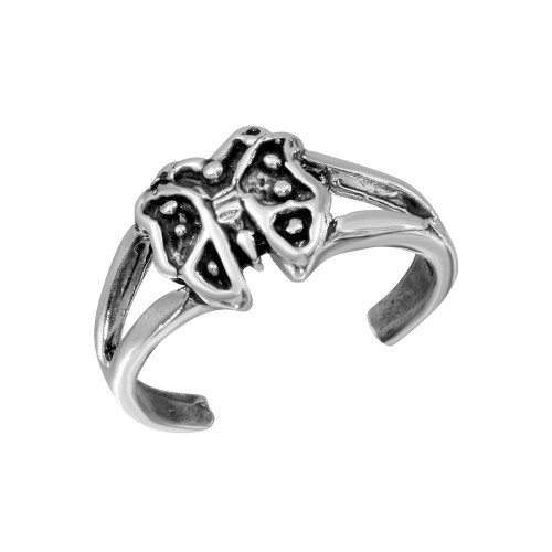 Wholesale Sterling Silver 925 Butterfly Adjustable Toe Ring - TR273-A