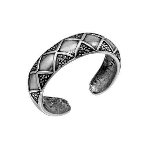 Wholesale Sterling Silver 925 Diamond Pattern Toe Ring - TR281-A