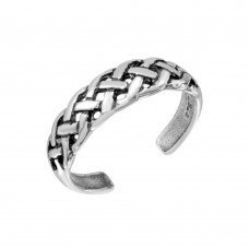 Wholesale Sterling Silver 925 Braided Adjustable Toe Ring - TR293-A
