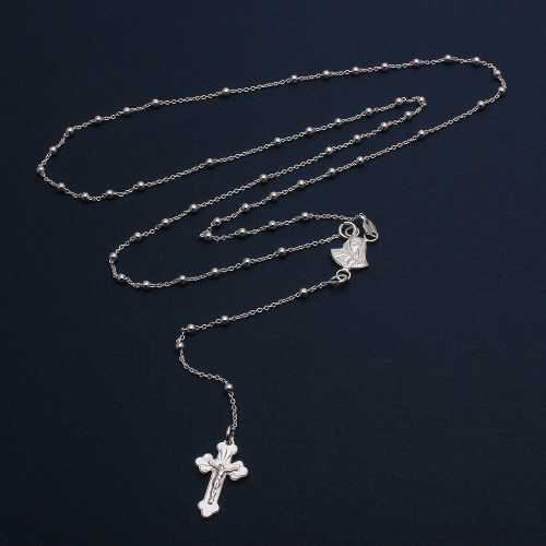 Wholesale Sterling Silver 925 High Polished Rosary 3mm - ROS08-3MM