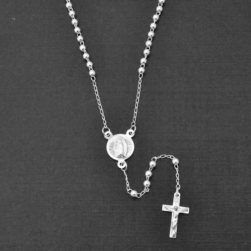 Wholesale Sterling Silver 925 High Polished Rosary 3mm - ROS03-3MM