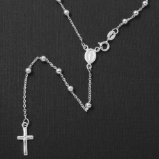 Sterling Silver High Polished Rosary 3mm - ROS07-3MM
