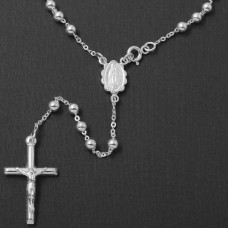 Sterling Silver High Polished Rosary 4mm - ROS15-4MM
