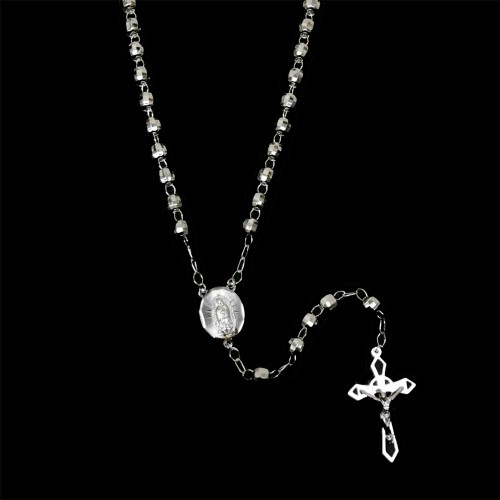 Wholesale Sterling Silver 925 High Polished Diamond Cut Rosary 6mm - ROS25-6MM