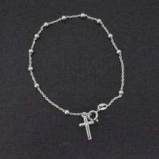 Wholesale Sterling Silver 925 High Polished Rosary Bracelet 3MM - ROSB02-3MM