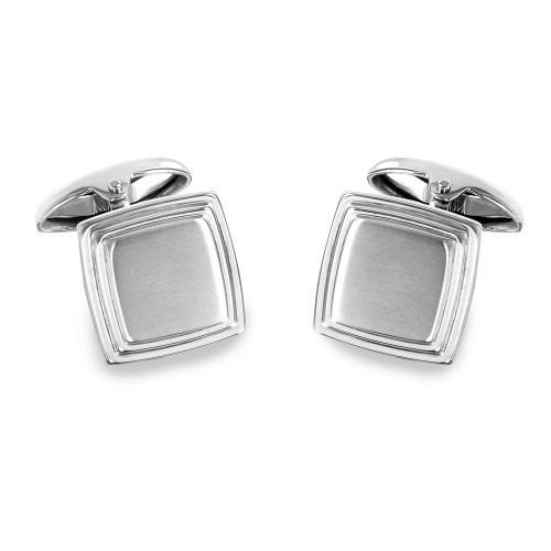 Wholesale Stainless Steel 925 Square Layer Cufflinks - SCU00010