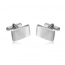 Wholesale Stainless Steel 925 Rectangle Cufflinks - SCU00013