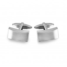 Wholesale Stainless Steel 925 Rectangle Cufflinks - SCU00016