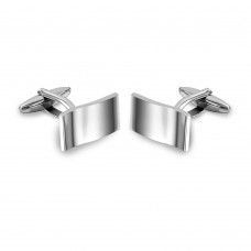 Wholesale Stainless Steel 925 Wave Rectangle Cufflinks - SCU00018