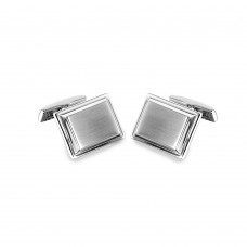 Stainless Steel Rectangle With Layer Cufflinks - SCU00019