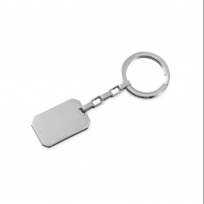 Wholesale Stainless Steel Engravable Key Chain Rectangle Steel  - SKC00005