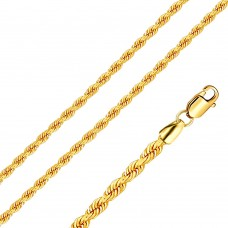 Wholesale Stainless Steel Rope Chain Gold Color 3mm - SSC040GP