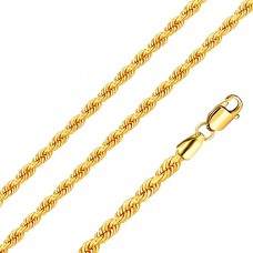Stainless Steel Rope Chain Gold Color 4mm - SSC041GP