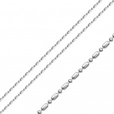 Sterling Stainless Steel Ball And Bar Chain 1.5mm - SSC053