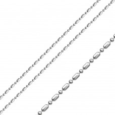 Sterling Stainless Steel Ball And Bar Chain 1.9mm - SSC054