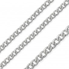 Stainless Steel Wide Curb Chain Matte Finished 6.8mm - SSC065