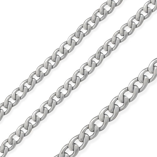 Wholesale Stainless Steel Wide Curb Chain Matte Finished 6.8mm - SSC065