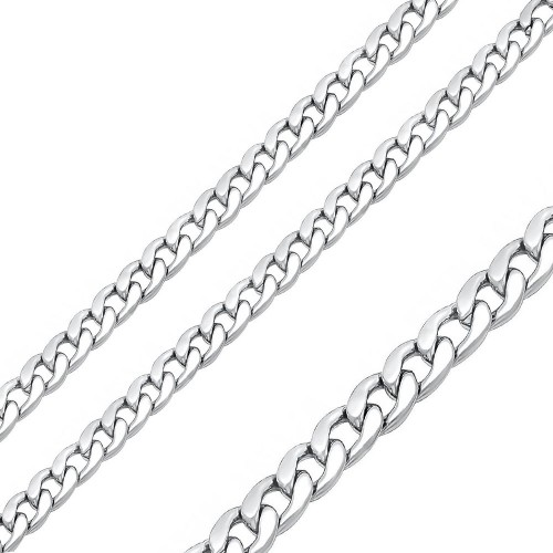 Wholesale Stainless Steel High Polished Curb Chain 6.8mm - SSC074