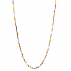 Stainless Steel 2 Toned Gold Color Bullet Chain 2mm - SSC087GP