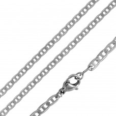 Stainless Steel Diamond Cut Flat Marina Chain 2.9mm - SSC091