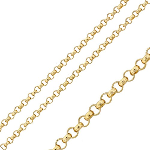 Wholesale Stainless Steel Gold Color Rolo Chain 2.6mm - SSC038GP