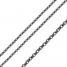 Stainless Steel Black Rolo Chain 2.6mm - SSC038BLK