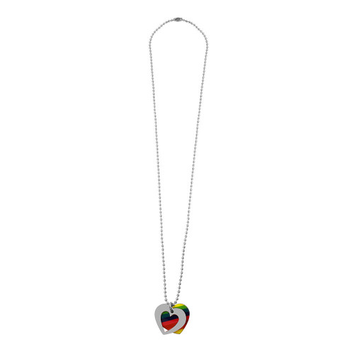 Wholesale Stainless Steel Double Open Heart and Pride Color Necklace - SSP00509