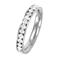 Wholesale Stainless Steel CZ Eternity Band April - SSR15APR