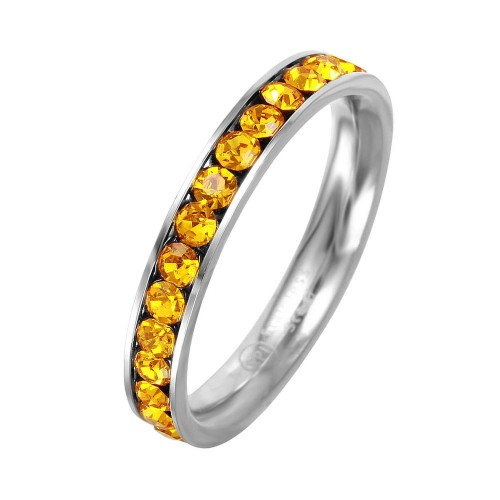 Wholesale Stainless Steel CZ Eternity Band November - SSR15NOV