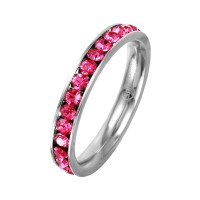 Wholesale Stainless Steel CZ Eternity Band October - SSR15OCT