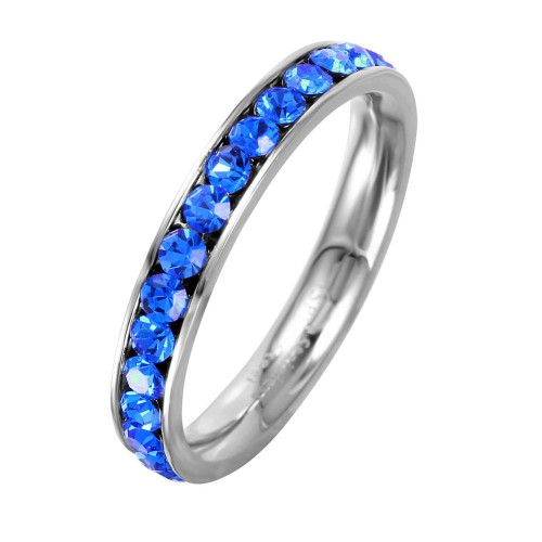 Wholesale Stainless Steel CZ Eternity Band September - SSR15SEP
