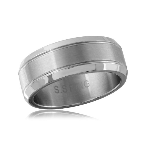 Wholesale Stainless Steel Engravable Band With Border - SRN069