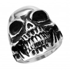 Wholesale Stainless Steel Skull Ring - SRN053