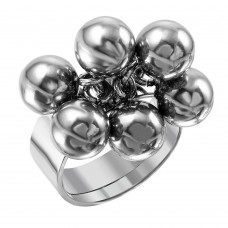 Wholesale Men's Stainless Steel Dangling Beads Ring - SRN063