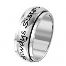 Wholesale Stainless Steel Forever Friends Spinner Ring - SRB065