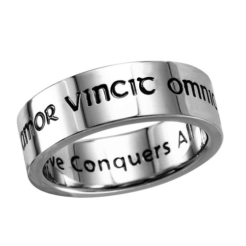 Wholesale Stainless Steel Band Engraved Love Conquers All - SRB067