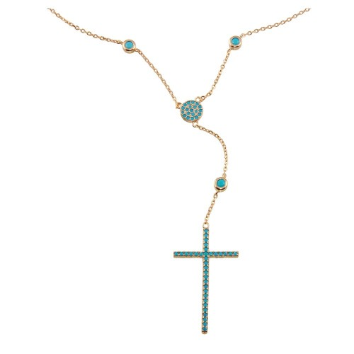 Wholesale Sterling Silver 925 Rose Gold Plated Rosary Necklace - STP01513RGP