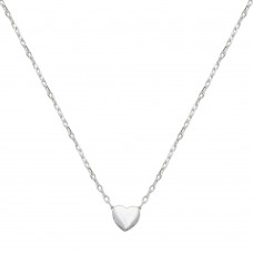 Wholesale Sterling Silver 925 Rhodium Plated Small Heart Necklace - STP01543