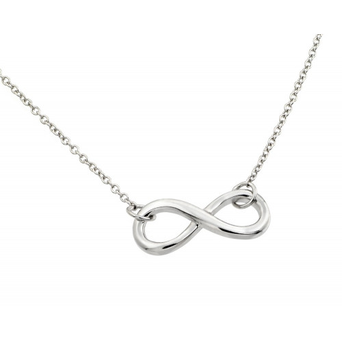 Wholesale Sterling Silver 925 Rhodium Plated Infinity Pendant Necklace - STP01373