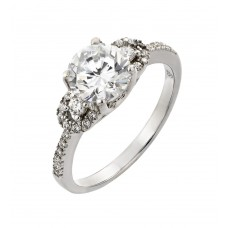 Wholesale Sterling Silver 925 Rhodium Plated Past Present Future CZ Ring - STR00930