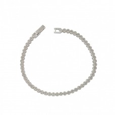 Wholesale Sterling Silver 925 Rhodium Plated Multiple Clear Micro Pave Tennis CZ Bracelet - GMB00003