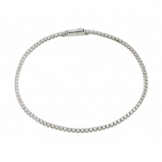 Sterling Silver Gold Plated Multiple Circle Clear Tennis Micro Pave CZ Bracelet - GMB00009RH