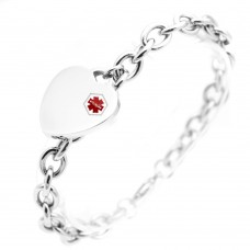 Wholesale Stainless Steel Medical ID Heart Bracelet - SSB00250