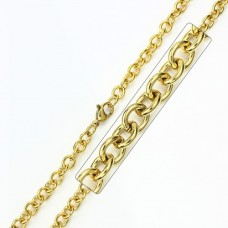 Stainless Steel Gold Plated Chain - SSC008GP